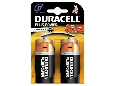 Batteri duracell plus str:d 2 stk